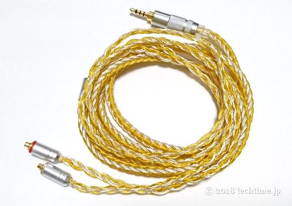 銀メッキ16芯リケーブルHiFiHear HiF4747(mmcx 2.5mm)の画像