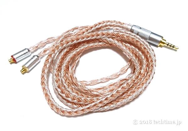 銀メッキ+銅線ミックス16芯リケーブルKinboofi KBF4746(mmcx 2.5mm)の画像