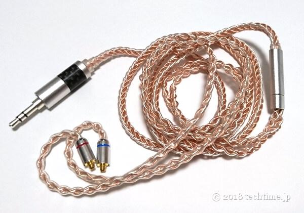 銀メッキ8芯リケーブルYinyoo GXX4728(mmcx 2.5mm)の画像