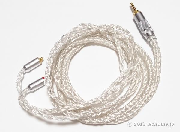 銀メッキ16芯リケーブルYinyoo YYX4745(mmcx 2.5mm)の画像