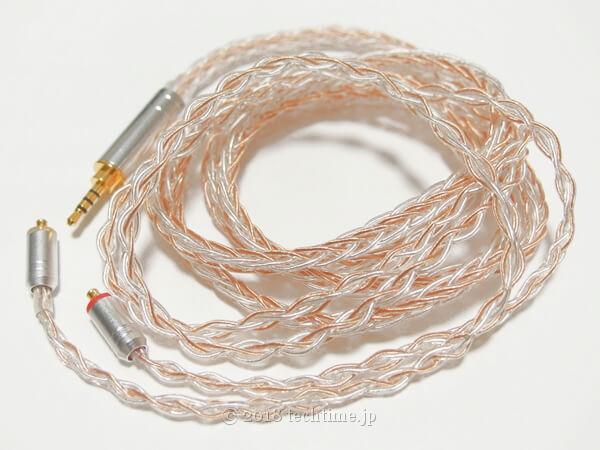 8芯銀メッキ7n高純銅リケーブル HiFiHear HiF4760(mmcx 2.5mm)の画像