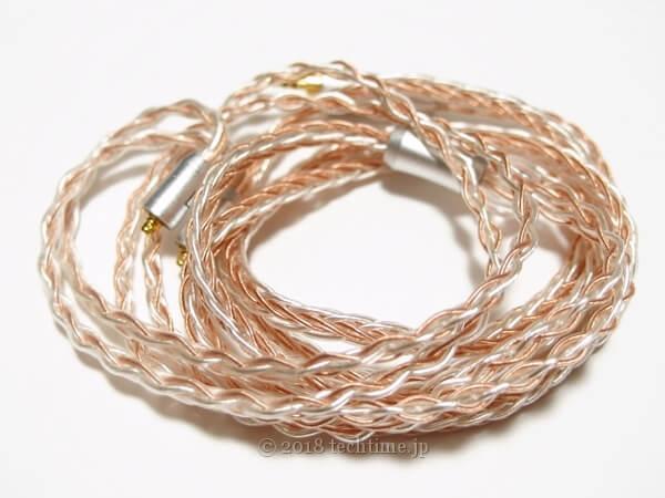 8芯銀メッキ&高純度銅ミックスリケーブル NICEHCK TYB1(mmcx 2.5mm)の画像