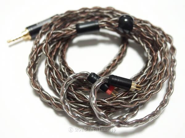 8芯銀メッキ&銅線ミックスリケーブル Kinboofi KBF4773(2PIN 2.5mm)の画像
