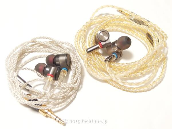 Tin Audio T2とTin HiFi T3を並べた画像