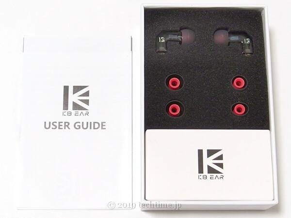 KB EAR F1の箱の中の画像