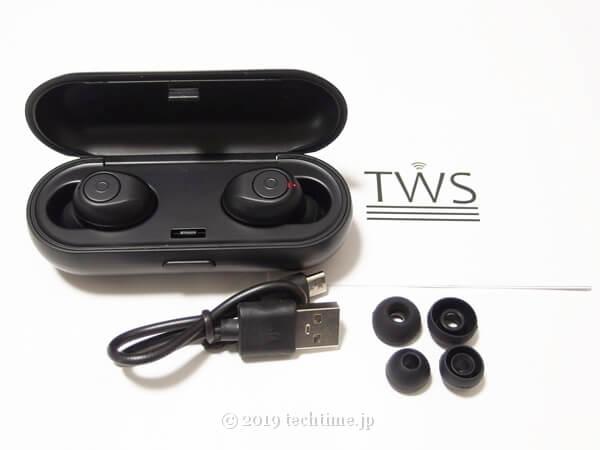 TWS X19の付属品の画像