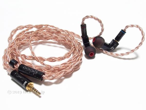 KB EAR F1とNICEHCK GCT4(4芯OFHCケーブル)の組み合わせ画像