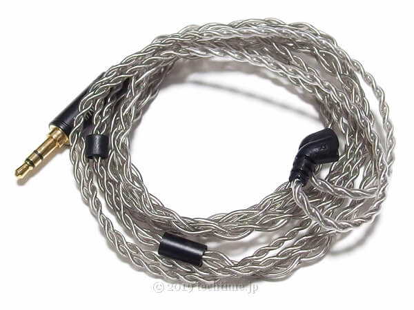 BLON BL-03専用8芯銀メッキアップグレードケーブルの画像
