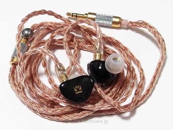 KB EAR OpalとJCALLY JC16 6N OFCリケーブルとの組み合わせの画像
