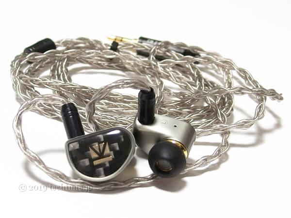 初期装備のKB EAR Diamondの白背景画像