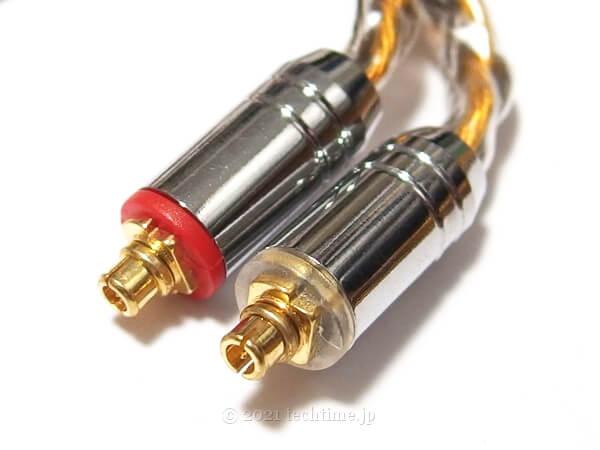 8芯銀メッキと高純度銅ミックスケーブル『NICEHCK C8-1』のmmcxコネクターの白背景画像