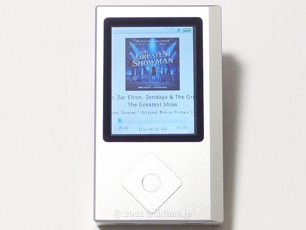 Zishan Z4のプレーヤー画面でアルバムアートを表示させた状態の白背景画像
